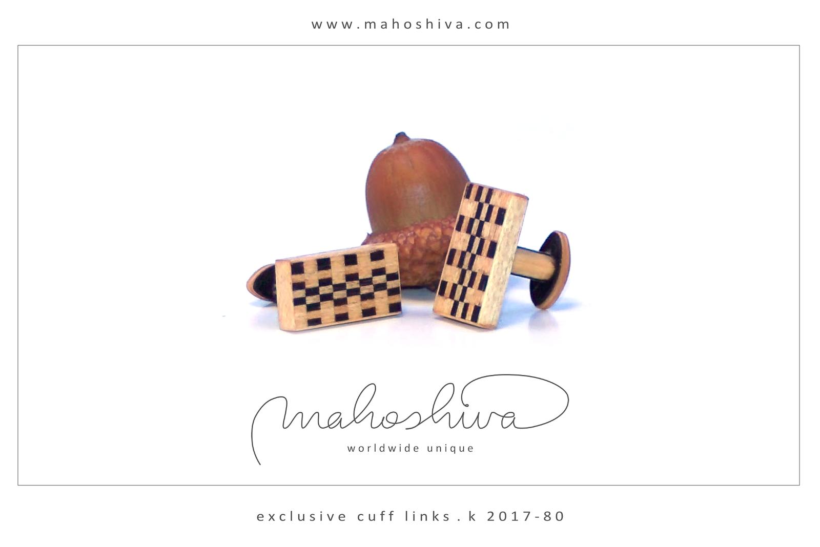 mahoshiva k 2017-80 Manschettenknöpfe aus Holz
