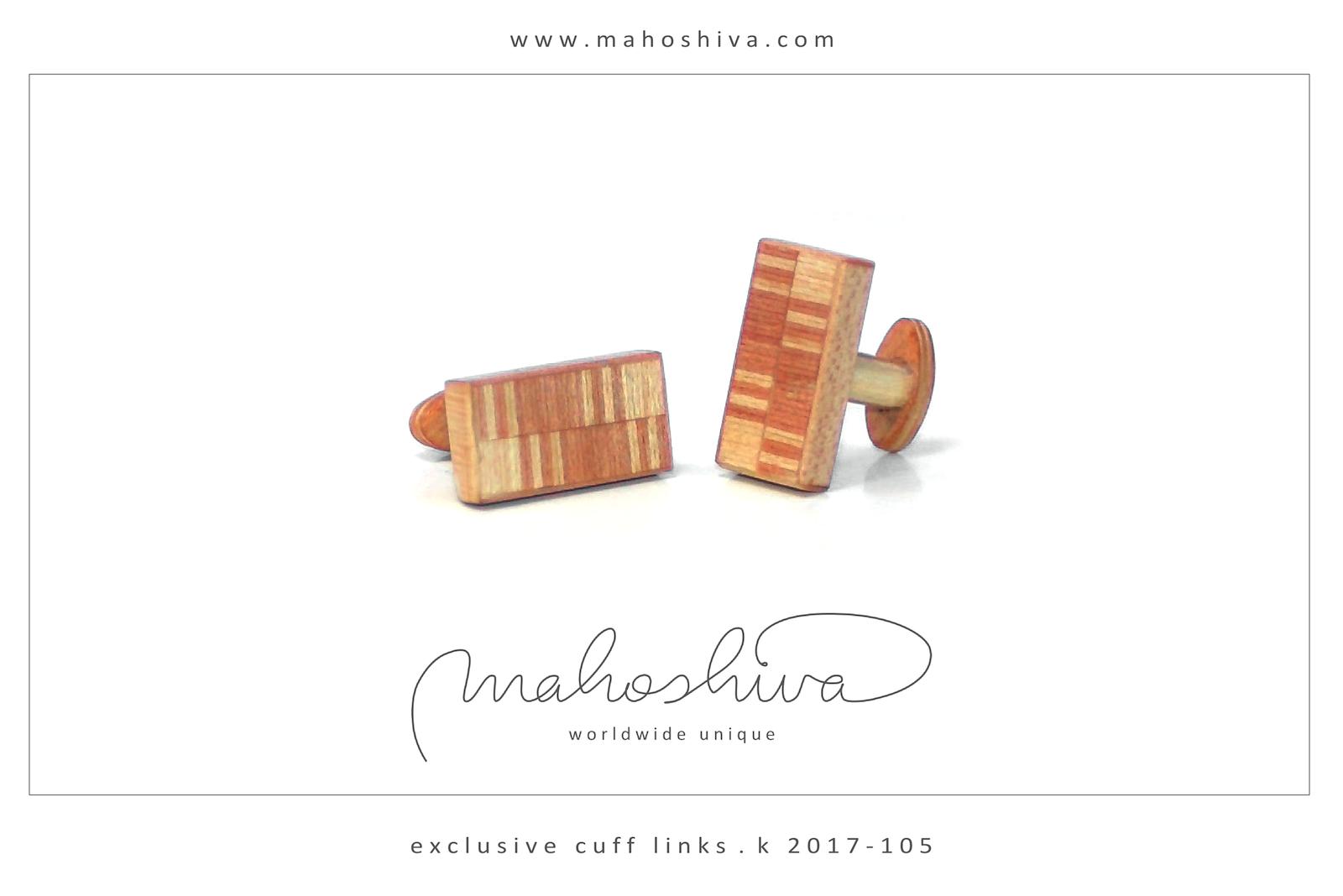 mahoshiva k 2017-105 Manschettenknöpfe aus Holz