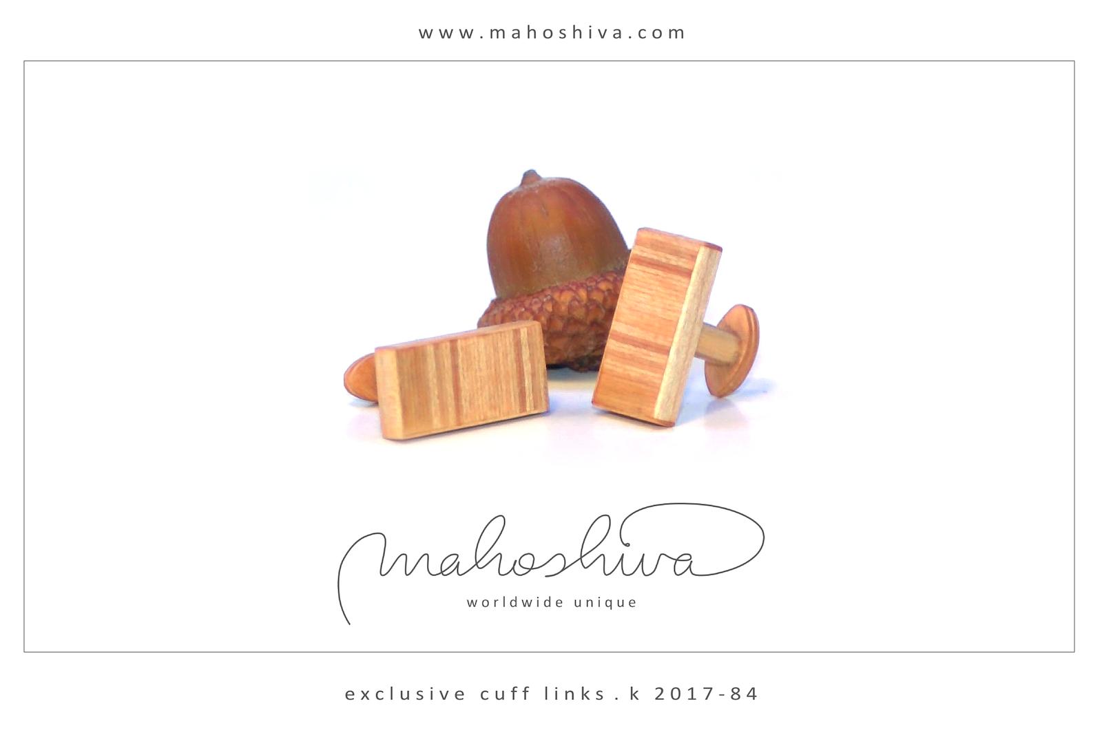 mahoshiva k 2017-84 Manschettenknöpfe aus Holz